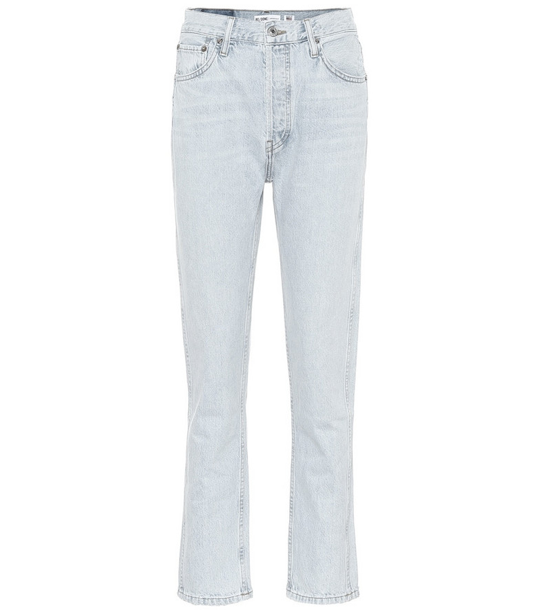 Re/Done 50s Cigarette high-rise jeans in blue
