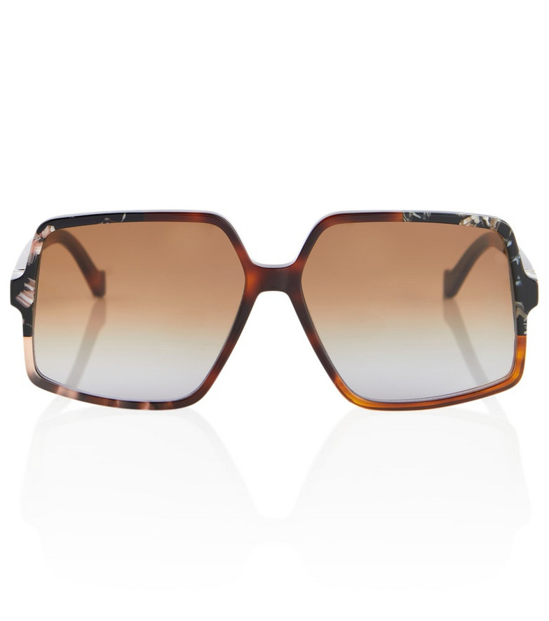 LOEWE Square acetate sunglasses in brown
