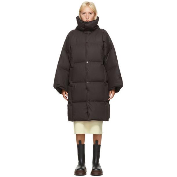 Bottega Veneta Black Down Long Puffer Coat