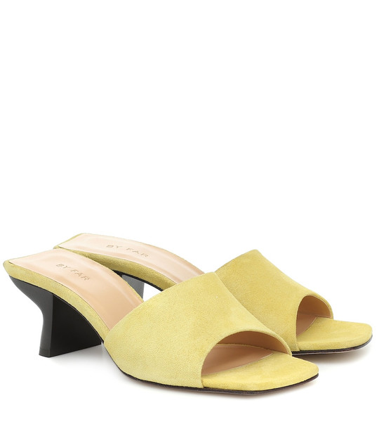 By Far Suede sandals in yellow