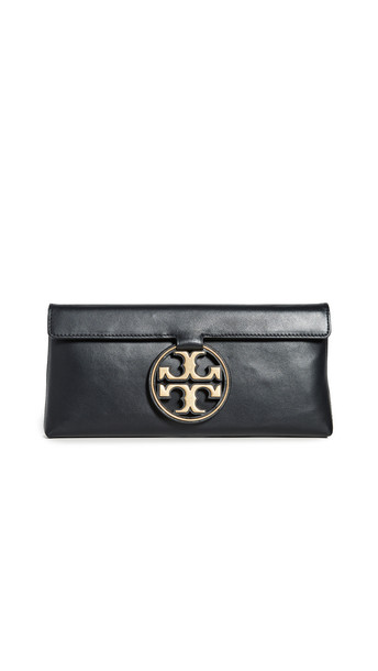 Tory Burch Miller Metal Clutch in black