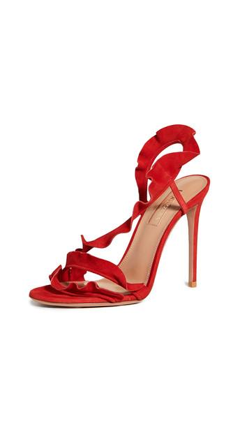 Aquazzura Ruffle Sandal 105
