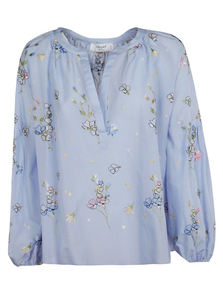 Blugirl Floral Embroidery Blouse in blue