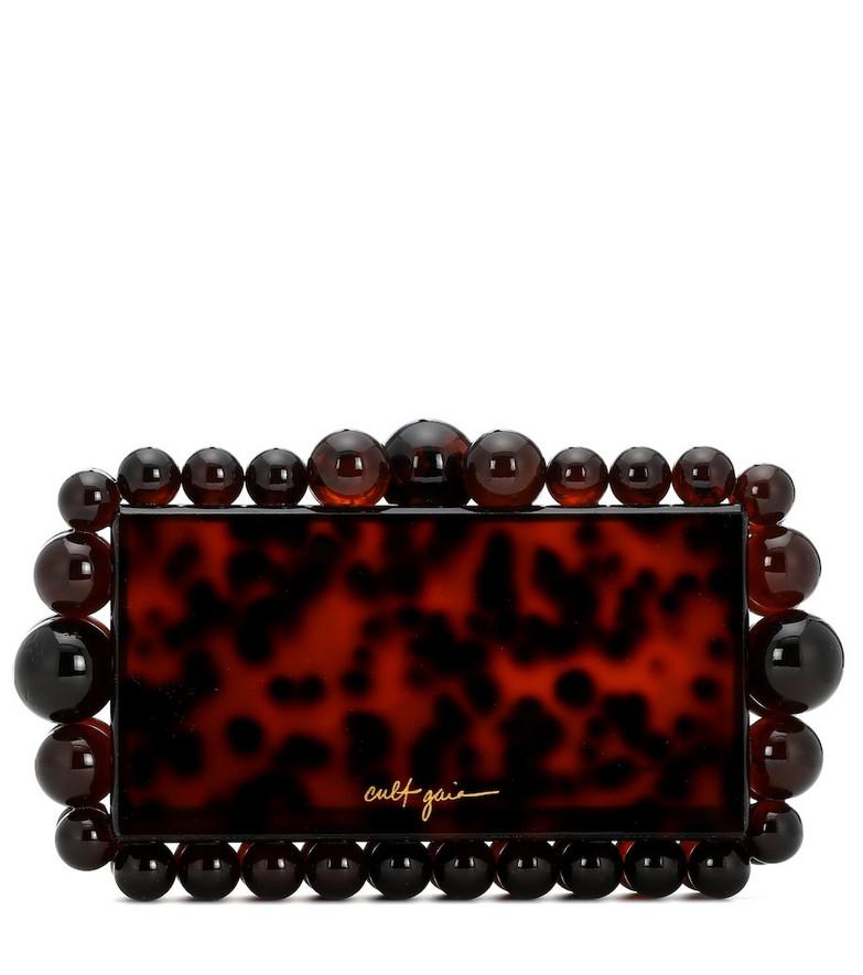 Cult Gaia Eos box clutch in brown