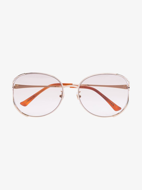 Gucci Eyewear Gold tone round sunglasses