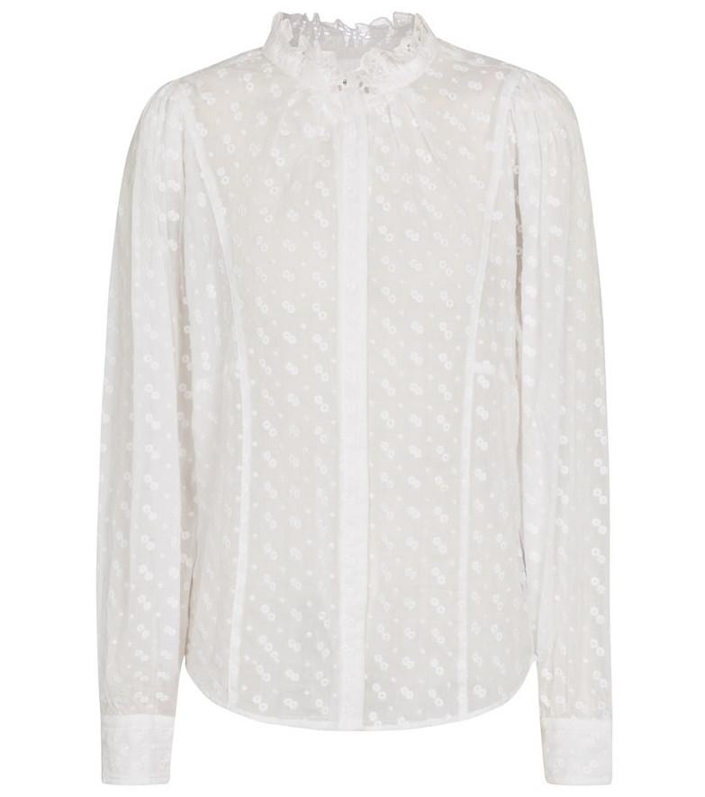 Isabel Marant, Étoile Terzali cotton voile blouse in white