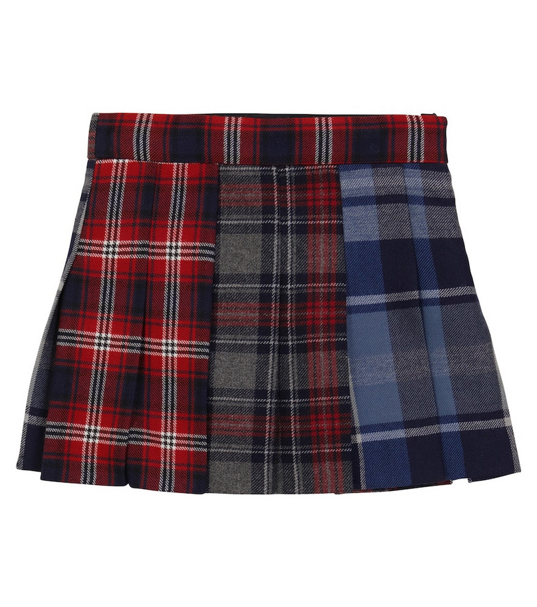 Dolce & Gabbana Kids Checked wool-blend mini skirt