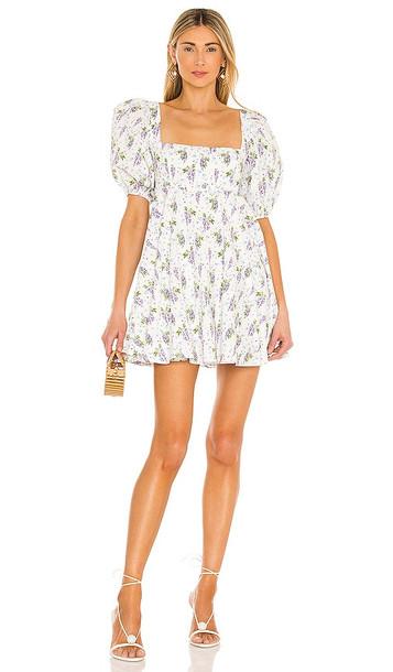 SAU LEE Alyssa Mini Dress in White