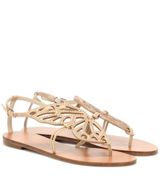 Sophia Webster Bibi Butterfly leather sandals in brown