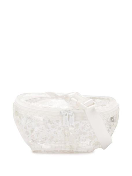Eastpak transparent paint splatter print belt bag in white