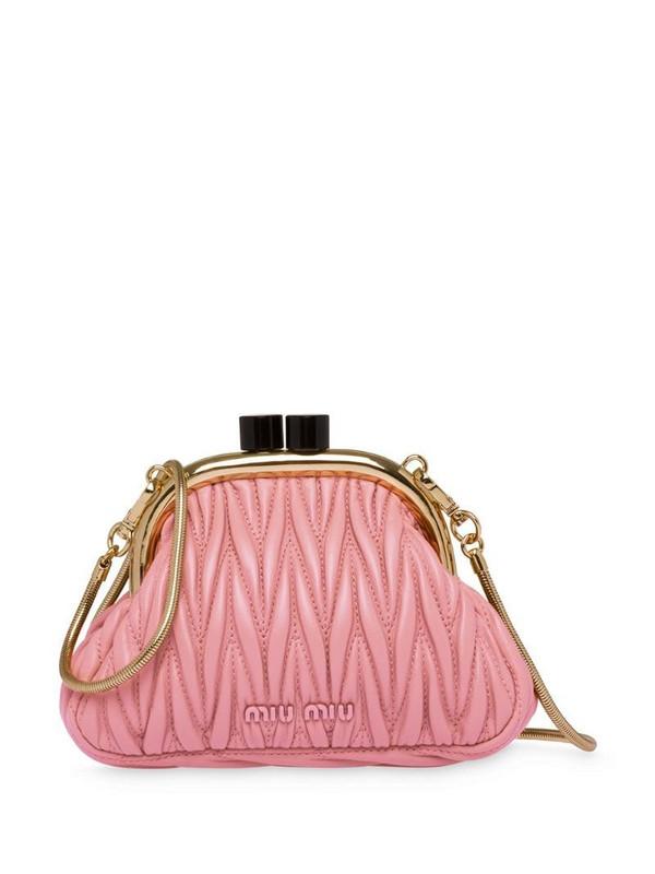 Miu Miu Belle nappa mini bag in pink