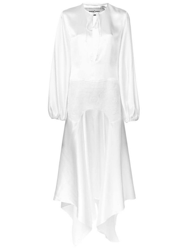 Marques'Almeida asymmetric hem dress in white