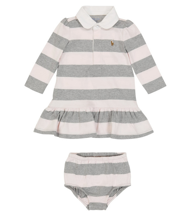 Polo Ralph Lauren Kids Baby striped cotton dress and bloomers set