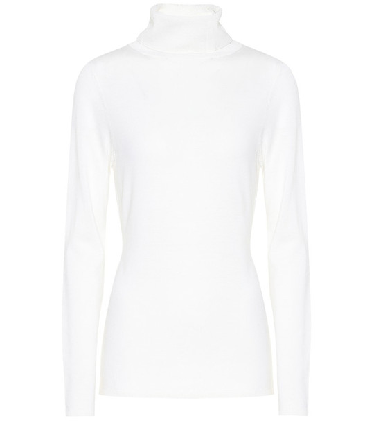Jardin des Orangers Wool turtleneck sweater in white