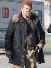 coat,abraham ford,the walking dead,suede jacket,black jacket,movies