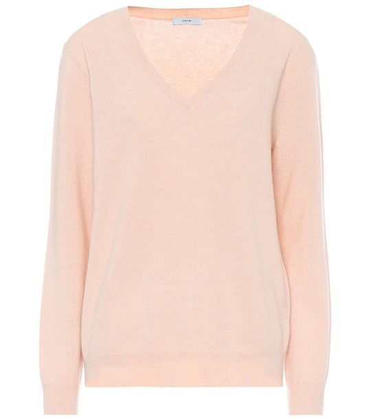 Vince V-neck cashmere sweater in pink
