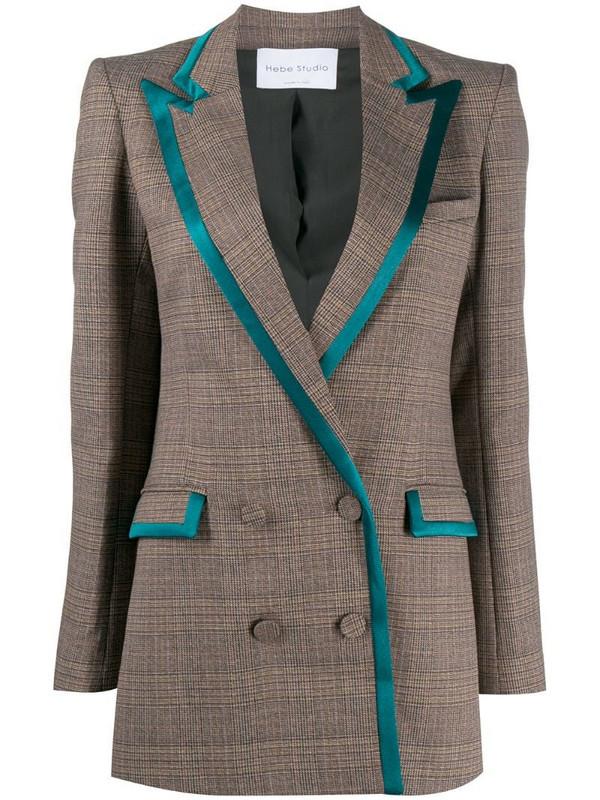 Hebe Studio Bianca double-breasted blazer in brown