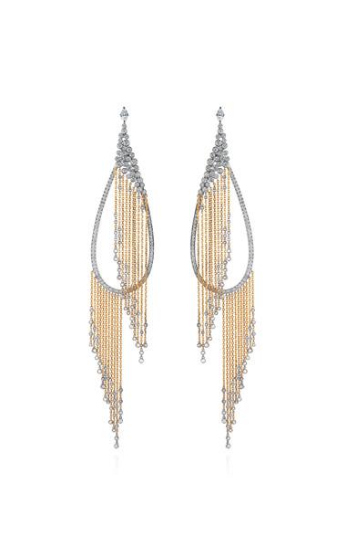 Mike Joseph White Gold and White Diamond Allure Earring in multi
