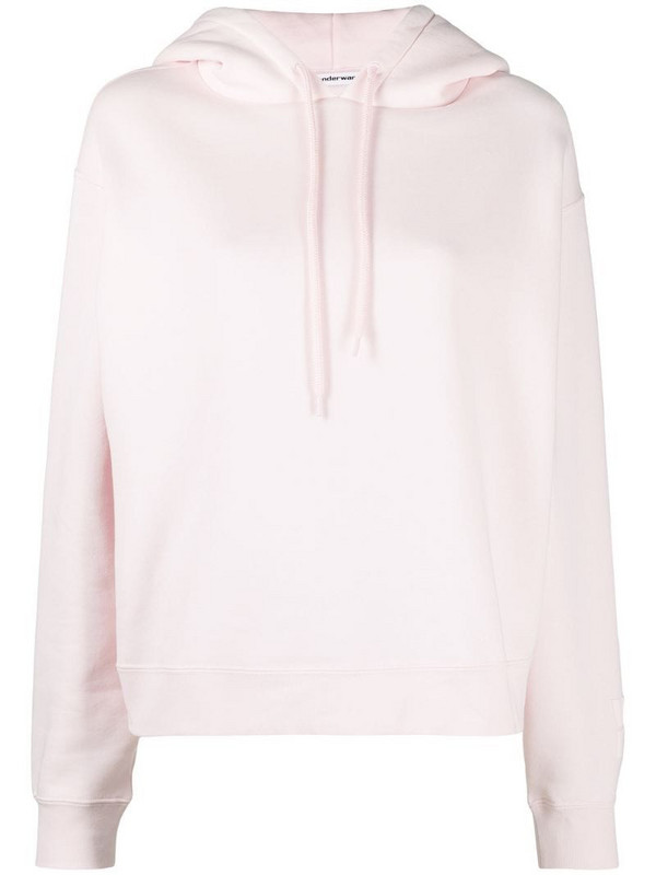 T By Alexander Wang relaxed hooded sweatshirt in pink