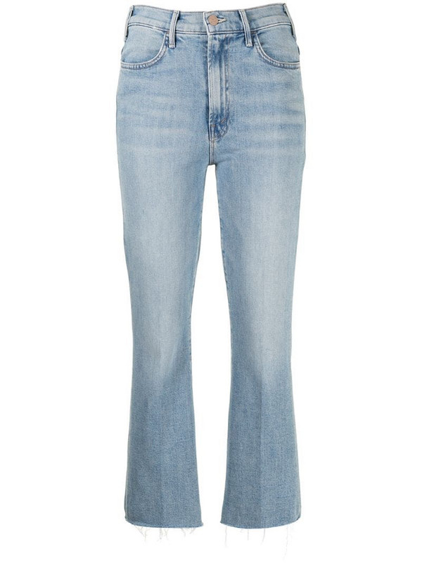 Mother mid-rise cropped jeans in blue