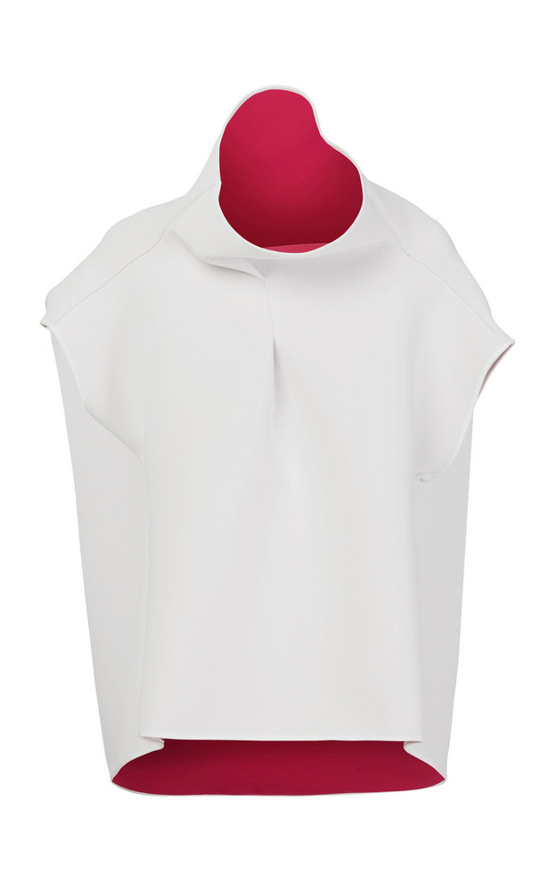 Maticevski Hedy Two-Tone Cady Top Size: 14 in white