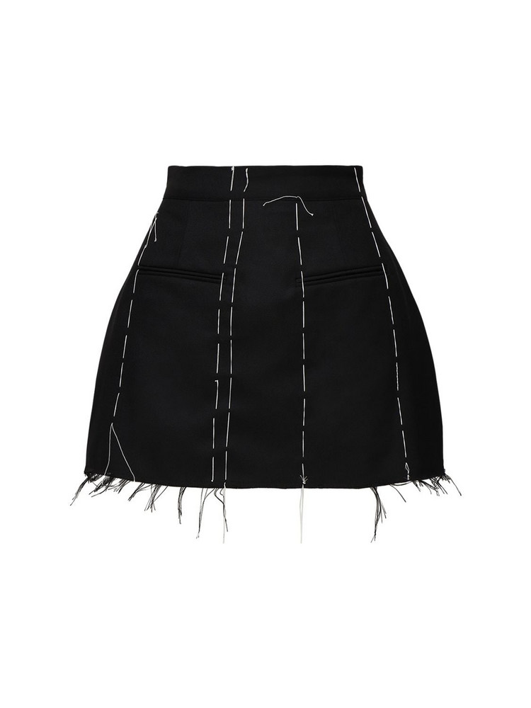 ROKH Tailored Mini Skirt W/contrast Stitching in black