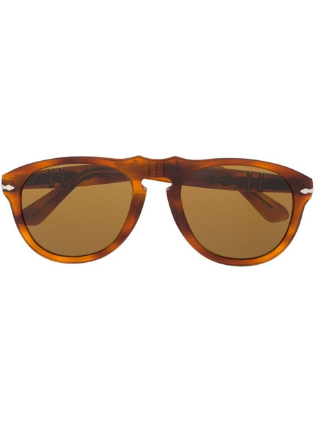Persol aviator-style sunglasses in brown