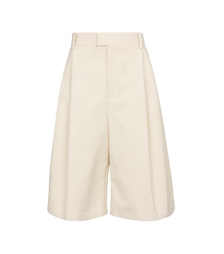 Bottega Veneta Cotton Bermuda shorts in white