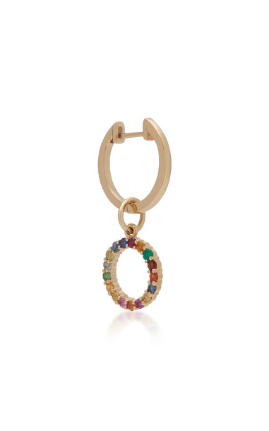 With Love Darling Partnership 14K Gold Multi-Stone Earring