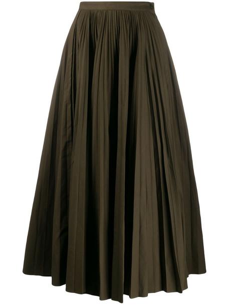 Katharine Hamnett London Ray pleated long skirt in green