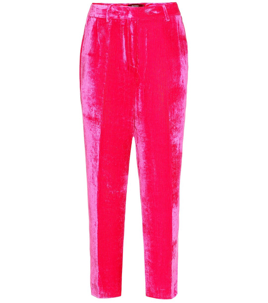 Sies Marjan Will stretch velvet pants in pink