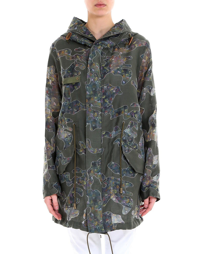 Mr & Mrs Italy Woman Reversible Parka Jacket in green