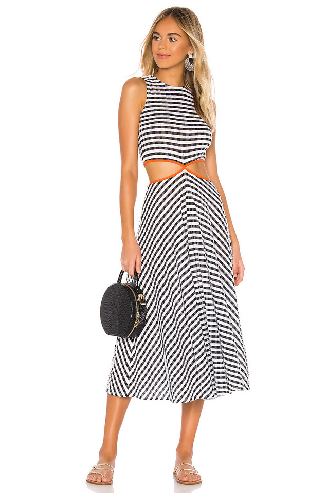 FLAGPOLE James Dress in black / white