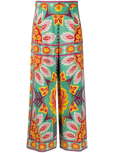 Weekend Max Mara floral pattern tailored trousers in green
