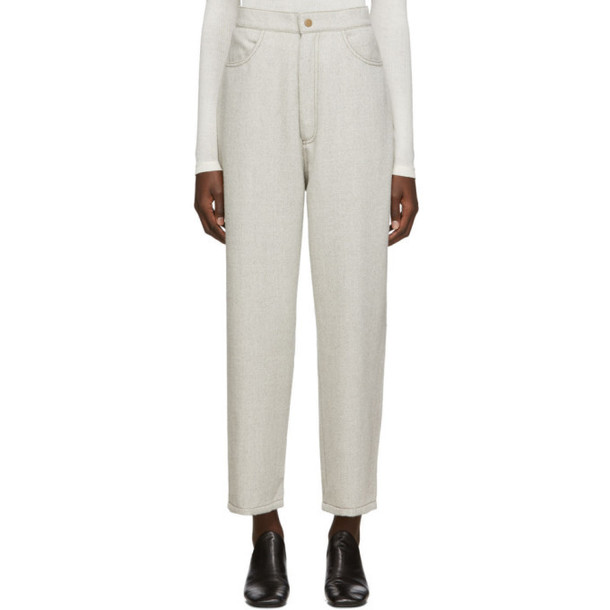 Lauren Manoogian Grey Twill Highland Trousers