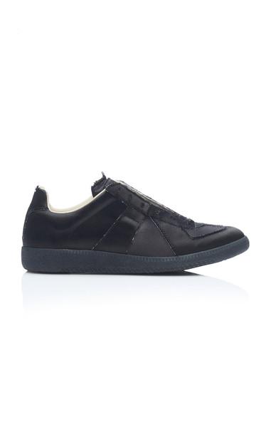 Maison Margiela Satin Sneakers in black