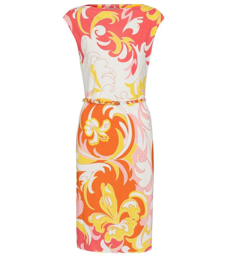 Emilio Pucci Printed minidress in orange