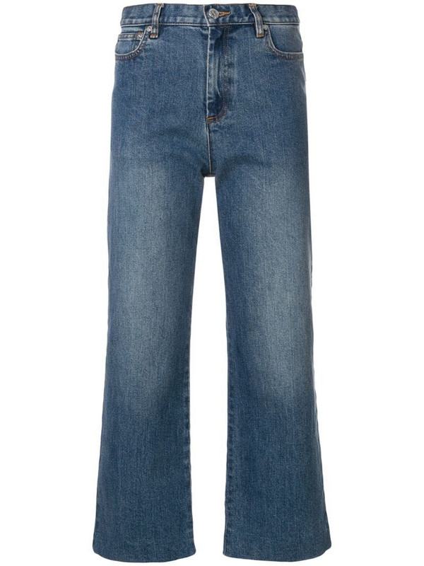 A.P.C. cropped straight-leg jeans in blue