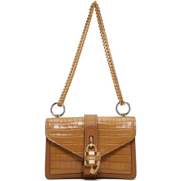 Chloe Brown Aby Chain Bag