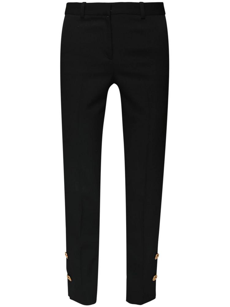 VERSACE Wool Gabardine Straight Pants in black