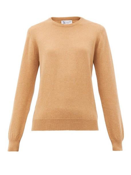 Johnston's Of Elgin - Cashmere Sweater - Womens - Camel