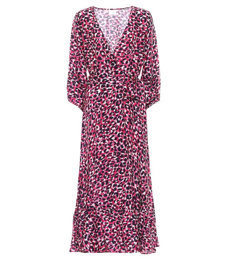 Anna Kosturova Exclusive to Mytheresa – Leopard-print silk midi dress in pink