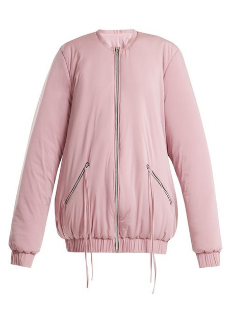 Charli Cohen - Bomber 2s Oversized Jersey Performance Jacket - Womens - Light Pink