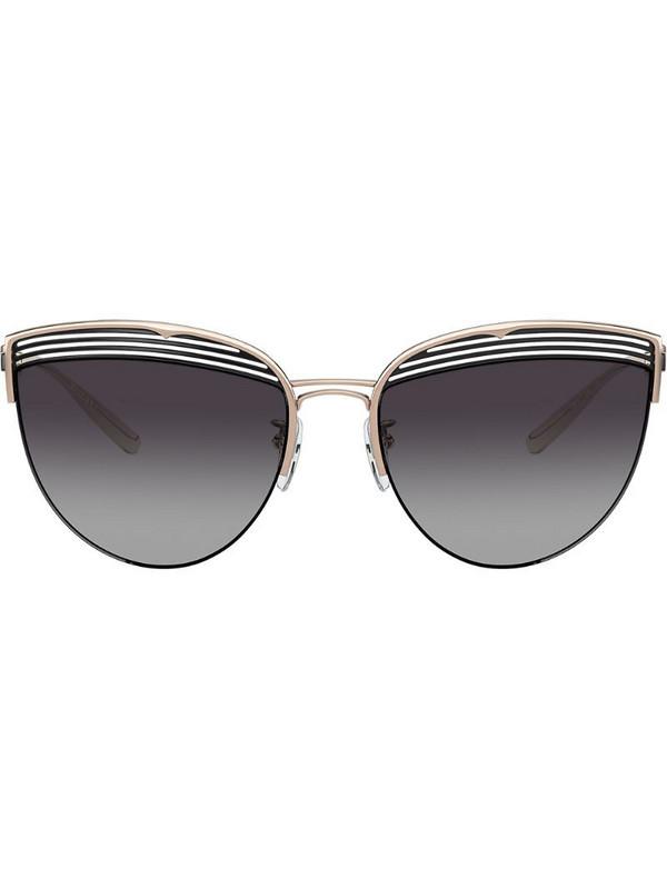 Bvlgari cat-eye sunglasses in gold