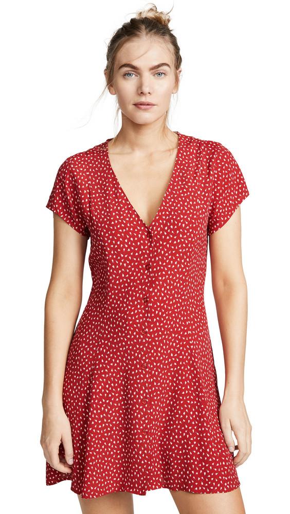 Rolla's Millia Tulip Mini Dress in red / white