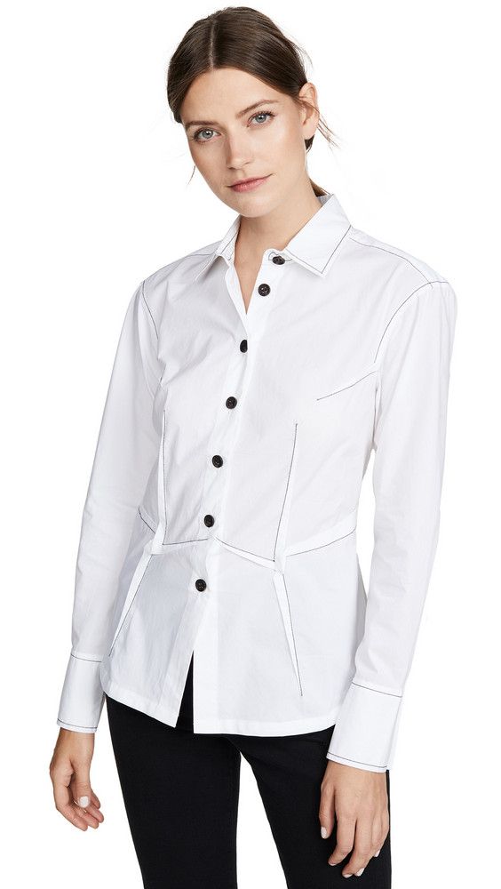 Colovos Dart Shirt in white