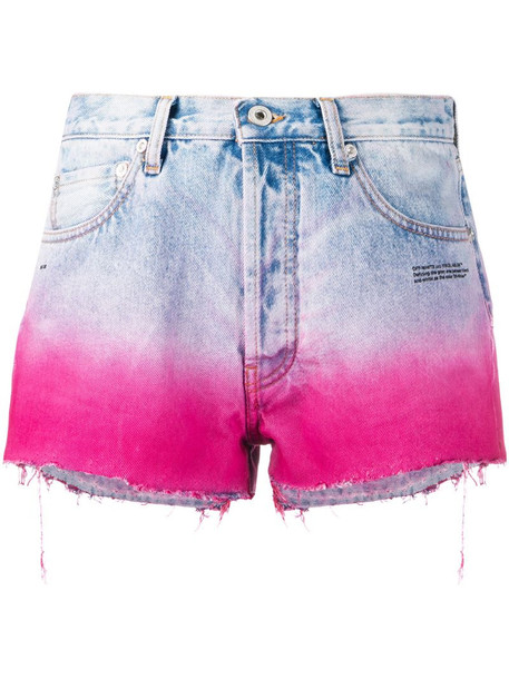 Off-White degradé-effect denim shorts in blue