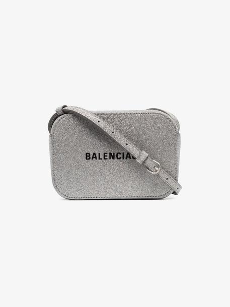 Balenciaga Everyday XS glitter camera bag in silver