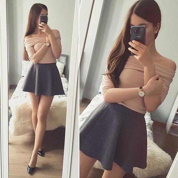top cute top adorable top lovely elegant sleeveless top tan