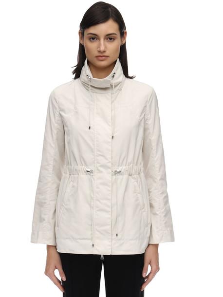 MONCLER Ocre Nylon Jacket in ivory